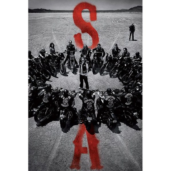 Sons Of Anarchy Circle - 24 x 36 Inches Maxi Poster