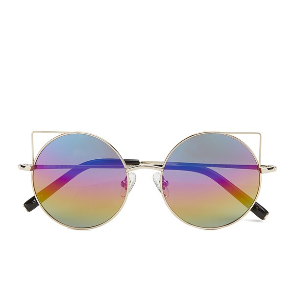 Matthew Williamson Women's Rainbow Lens Sunglasses - Light Gold