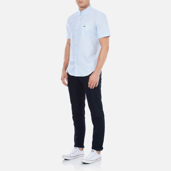 All White Lacoste Shirt