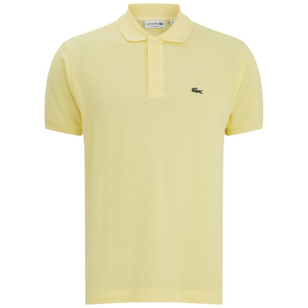 Lacoste Men 39 S Short Sleeve Polo Shirt Feather Yellow