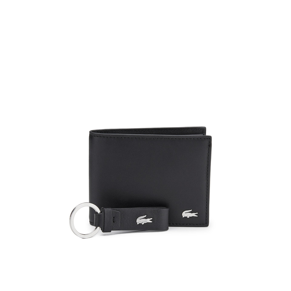 a678f822fed5fa Lacoste Men s Wallet and Keyring Set - Black Clothing