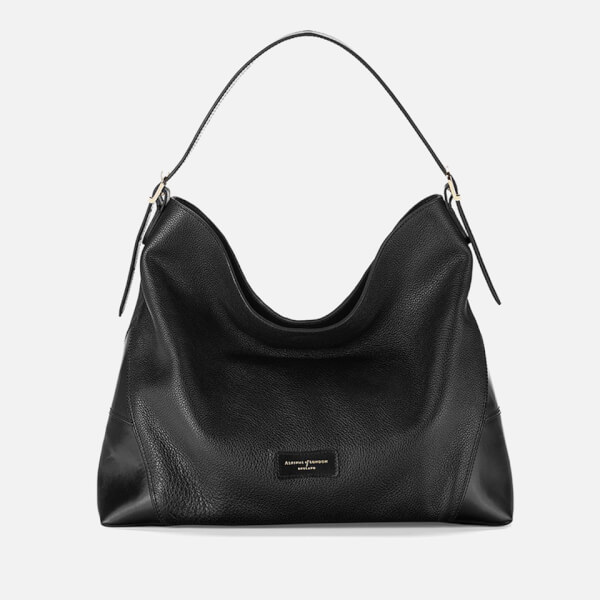 Aspinal of London Women's A Hobo Bag - Black Pebble