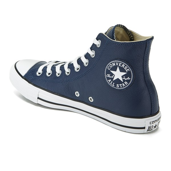 Converse All Star Leather Hi Nighttime Mens Leather Trainers Navy - 41.5 EU QWwbQkox