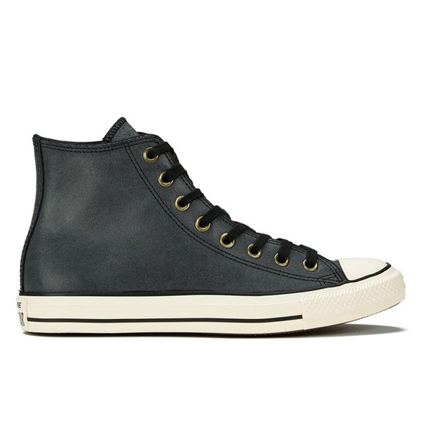 Converse Men's Chuck Taylor All Star Vintage Leather Hi-Top Trainers -  Black/Egret