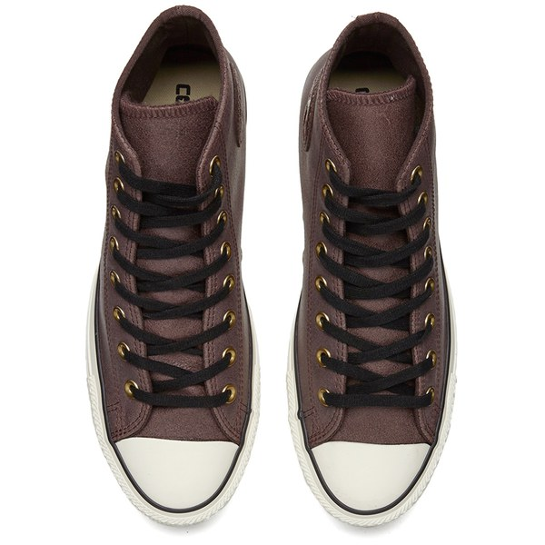 8c3f9cfb71f0 Converse Men s Chuck Taylor All Star Vintage Leather Hi-Top Trainers - Burnt  Umber