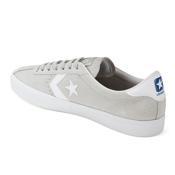 Converse CONS Men\u0027s Break Point Suede Trainers - Mouse/White: Image 5