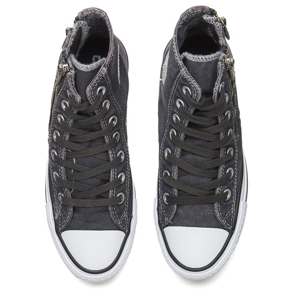 92ce08c67414 Converse Women s Chuck Taylor All Star Dual Zip Wash Hi-Top Trainers - Storm  Wind