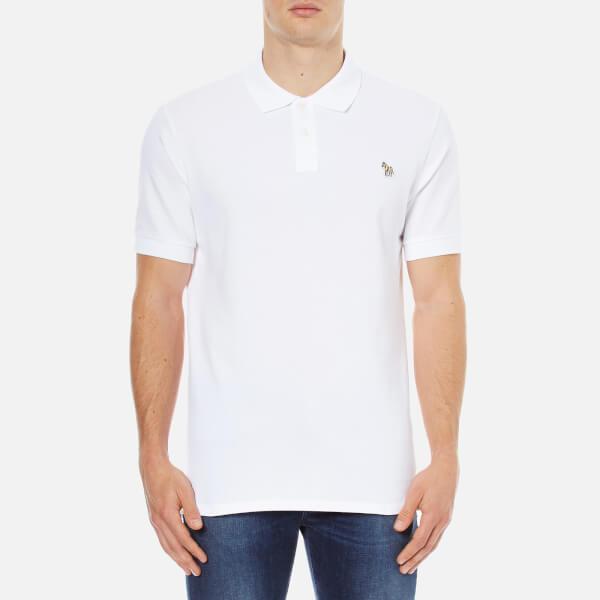 Paul Smith Jeans Men's Basic Pique Zebra Polo Shirt - White