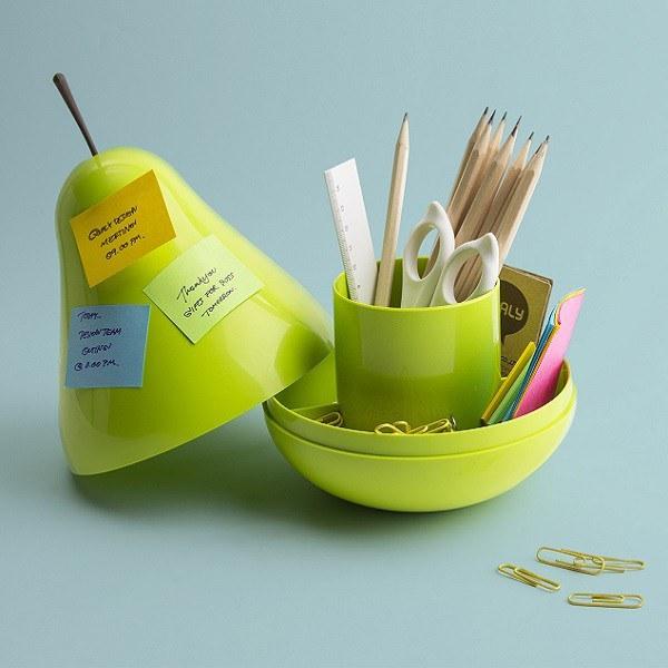 Desk Tidy qualy pear pod desk tidy - green | iwoot