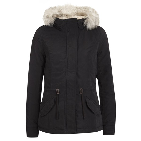 ONLY Womens Lucca Short Parka - Black Womens Clothing | TheHut.com