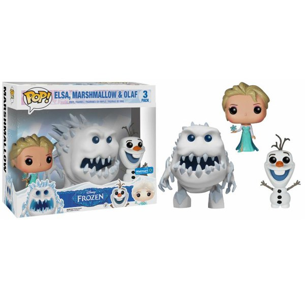 Disney Frozen Elsa, Marshmallow & Olaf 3-Pack Pop! Vinyl Figure Set