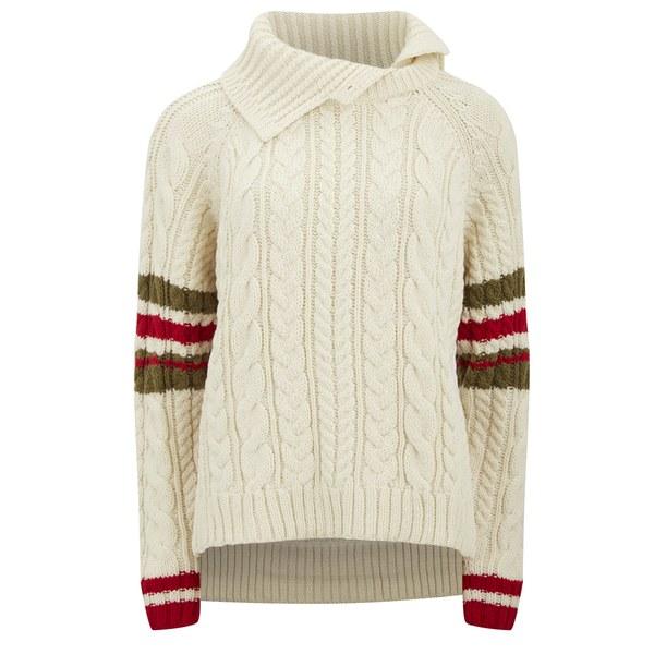 Preen by Thornton Bregazzi Women's Harley Wool Knitted Jumper - Ivory