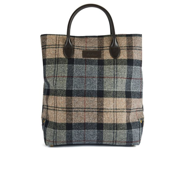 Barbour Straighton Tartan Tote Bag - Winter Tartan