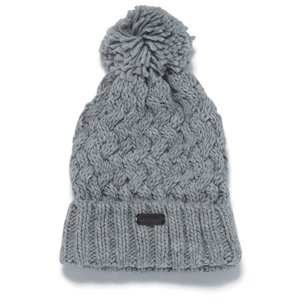 2c6451494f060 Barbour Women s Maybole Beanie Hat - Light Grey  Image 1