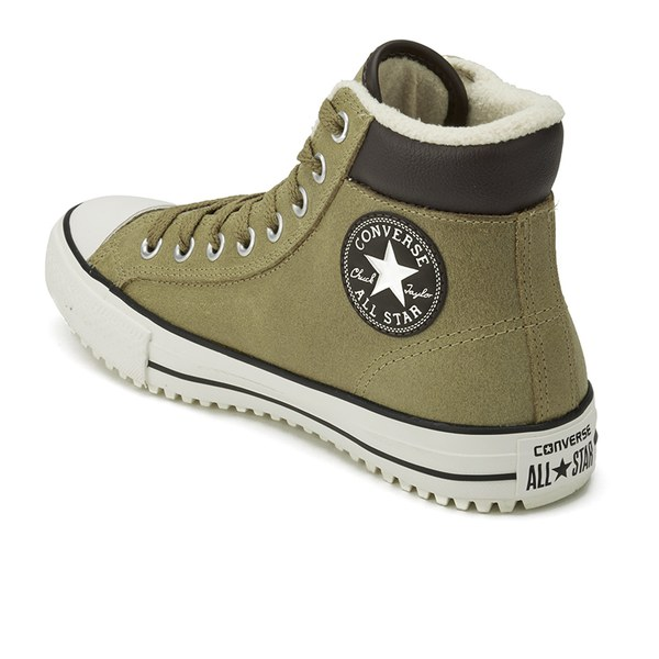 21418100c9fb Converse Men s Chuck Taylor All Star Vintage Leather Shearling Converse  Boots - Sand Dune