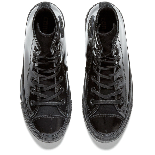 94bfbc3fe10b Converse Women s Chuck Taylor All Star Patent Leather Hi-Top Trainers -  Black  Image