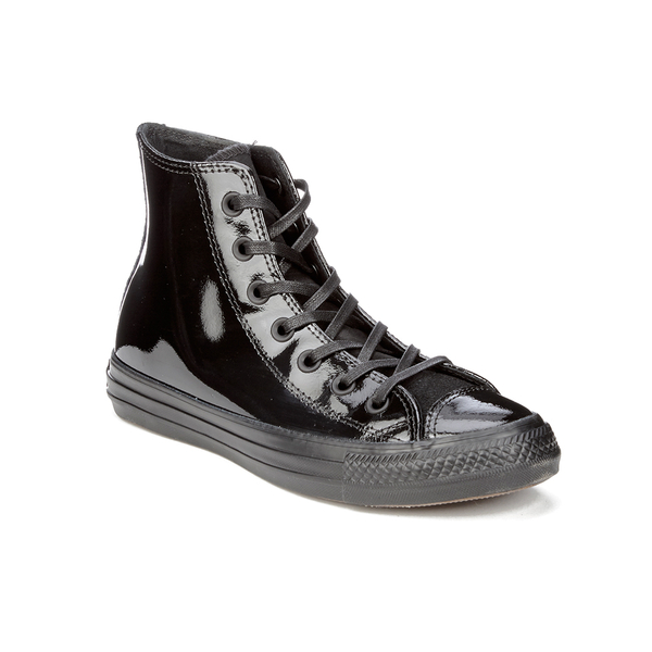 Converse Women's Chuck Taylor All Star Patent Leather Hi-Top Trainers -  Black: Image