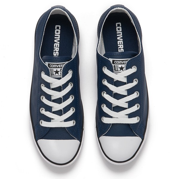 Converse Women's Chuck Taylor All Star Dainty Seasonal Leather Ox Trainers  - Nighttime Navy/White