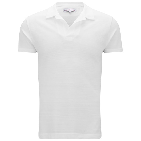 Orlebar Brown Men's Felix Pique T-Shirt - White