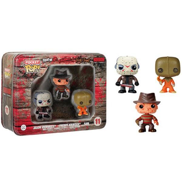 Horror Freddy, Jason, Sam Pocket Mini Pop! Vinyl Figure 3 Pack Tin