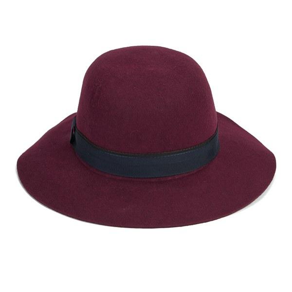 Christys' London Womens Lola Floppy Brim Hat - Maroon
