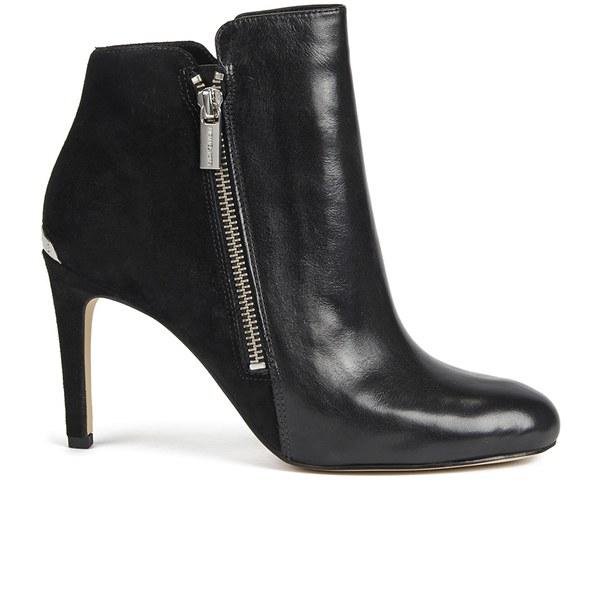 Michael Michael Kors Women S Clara Leather Heeled Ankle