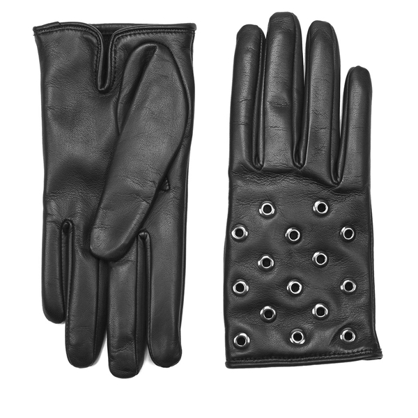 REDValentino Women's Stud Leather Gloves - Black