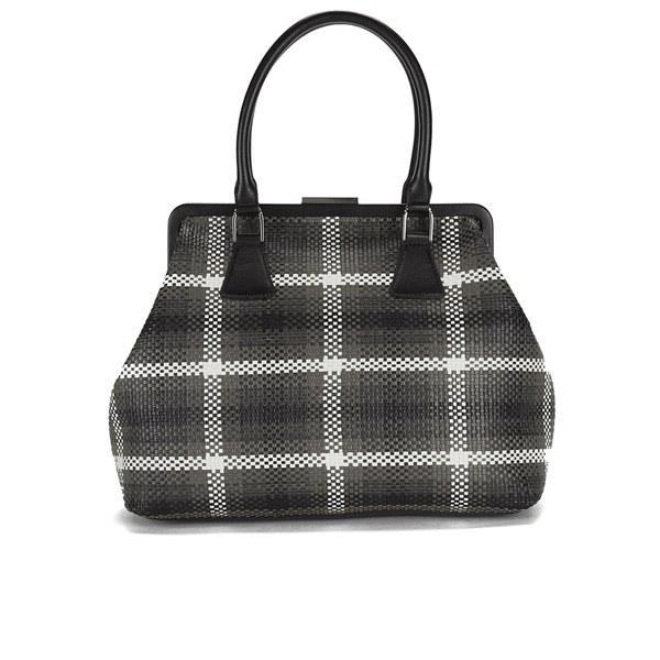 REDValentino Women's Double Handle Check Tote Bag - Black/Grey