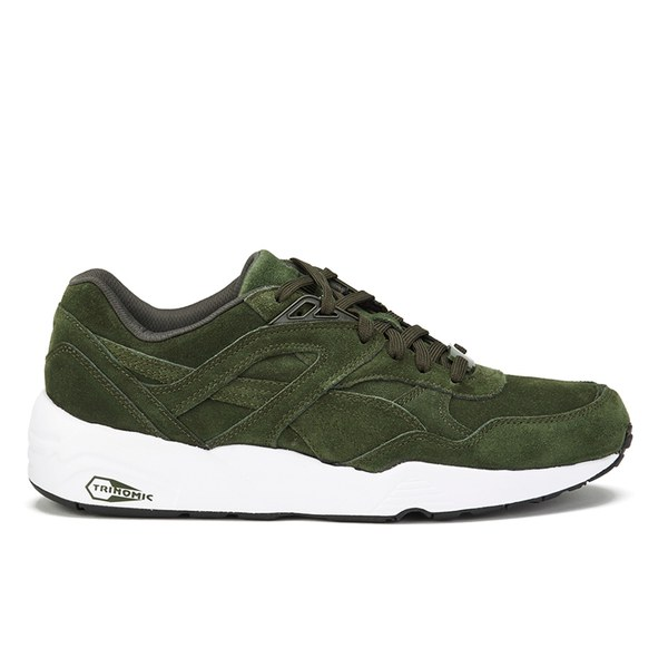Puma Men s R698 Allover Suede Trainers - Forest Night Mens Footwear ... c427503c7