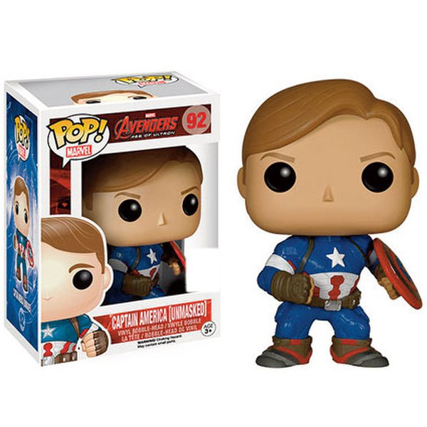 Marvel Avengers Age Of Ultron Unmasked Captain America SDCC Exclusive Pop! Vinyl Figure