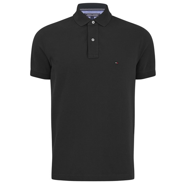 tommy hilfiger men 39 s slim fit polo shirt black mens. Black Bedroom Furniture Sets. Home Design Ideas