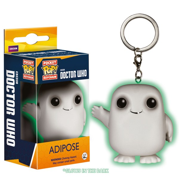 Doctor Who Glow in the Dark Adipose Pop! Vinyl Key Chain
