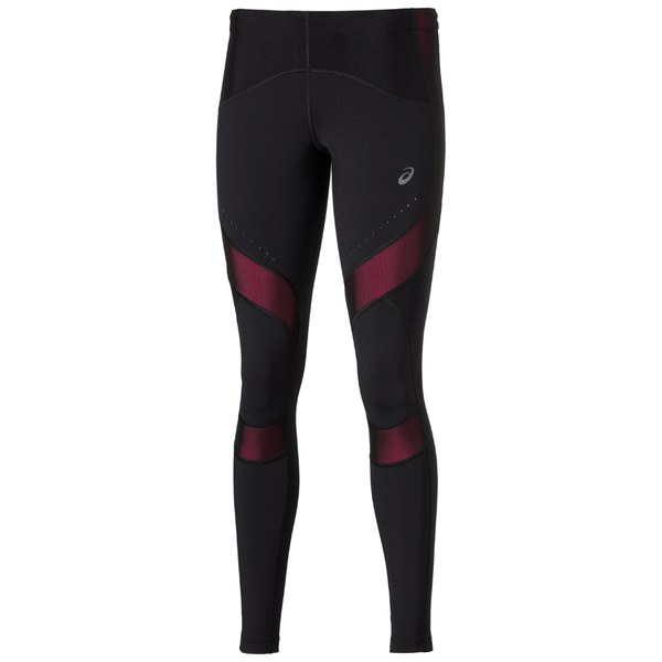40a1ed08e4d1 Asics Women s Leg Balance Running Tights - Performance Black Pink Glow   Image 1