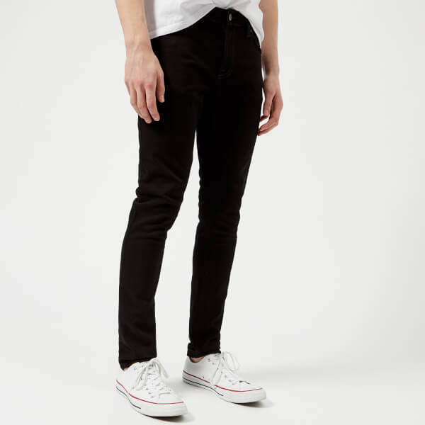 Nudie Jeans Men s Skinny Lin Skinny Jeans - Black Black Clothing ... fcfc9635d