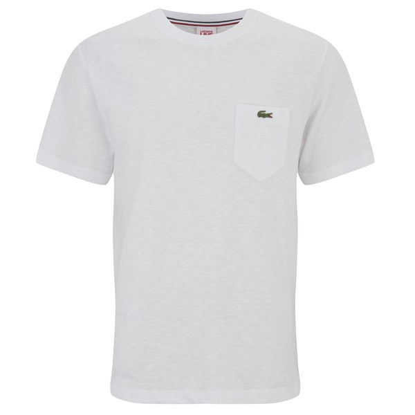 lacoste live men 39 s short sleeve pocket crew neck t shirt. Black Bedroom Furniture Sets. Home Design Ideas