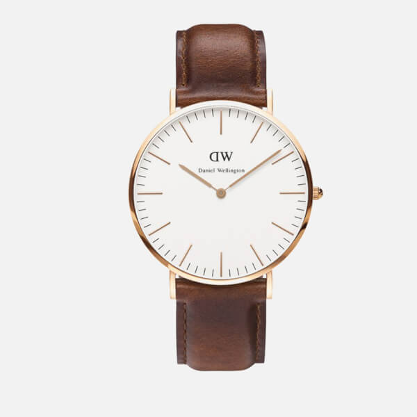 Daniel Wellington Classic St Mawes Rose Gold Watch - Tan