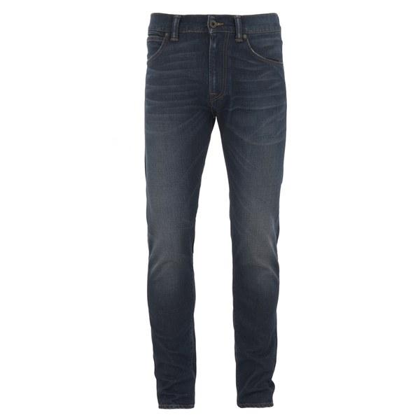 Edwin Men's ED85 Slim Tapered Low Crotch Sonic Dark Used Wash Denim Jeans - Dark Blue