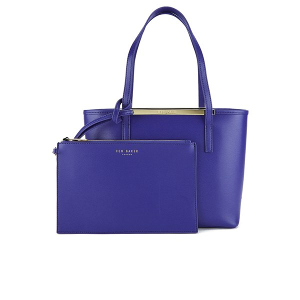 ed963daab Ted Baker Women s Haileyz Zip Top Small Crosshatch Shopper Bag - Blue   Image 1