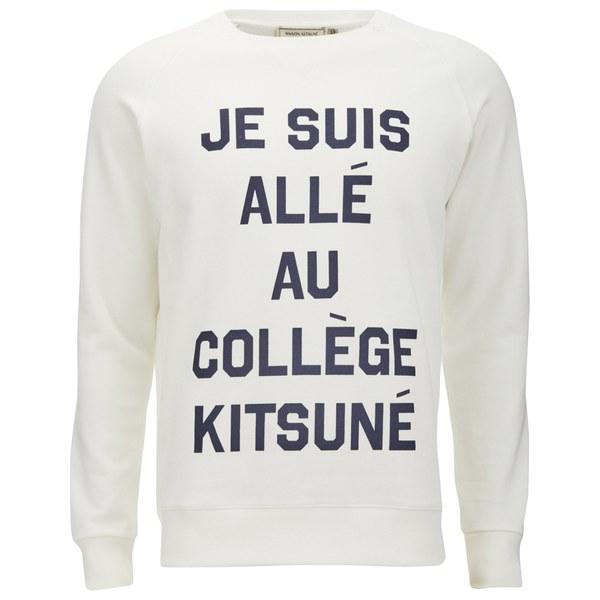 Maison Kitsuné Men's Je Suis Alle Sweatshirt - White