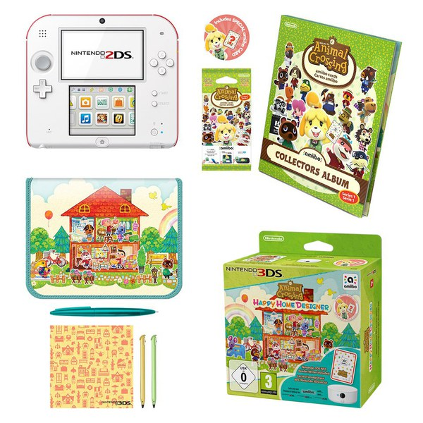 Nintendo 2DS + Animal Crossing: Happy Home Designer + NFC Reader ...