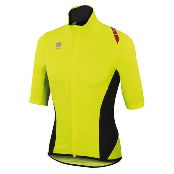 Sportful Fiandre Light Norain Short Sleeve Jersey Yellow