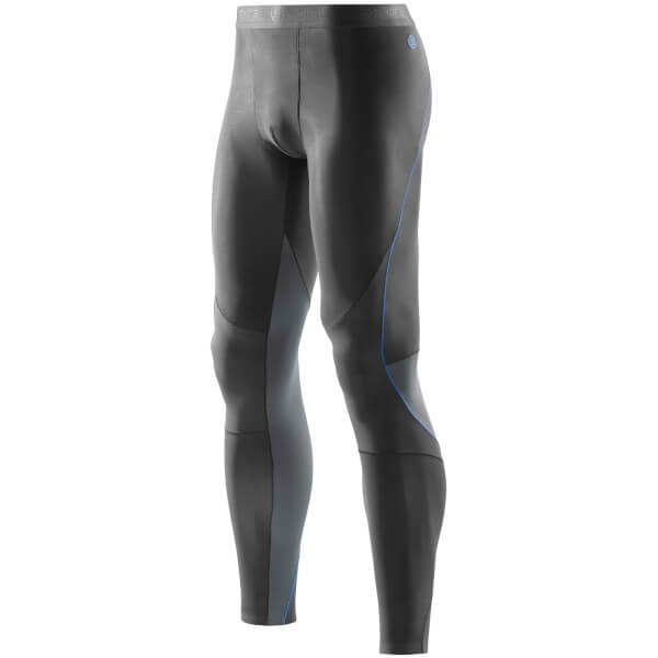 Skins RY400 Men's Compression Long Tights - Graphite/Blue