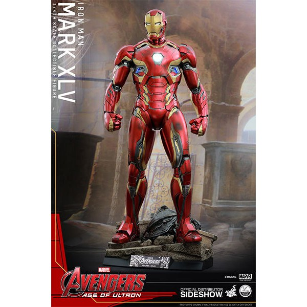 Hot Toys Marvel Avengers Age Of Ultron Iron Man Mark XLV 1:4 Scale Figure