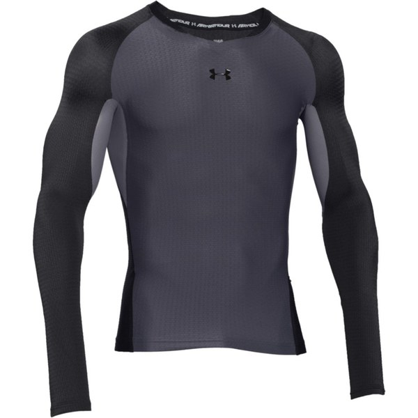 Under armour men 39 s clutchfit 2 0 compression long sleeve t for Gray under armour shirt