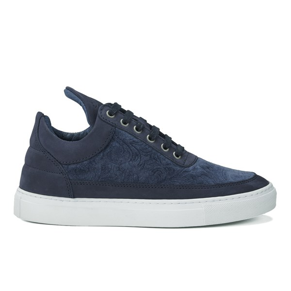 Filling Pieces Women's Velvet Low Top Trainers - Navy