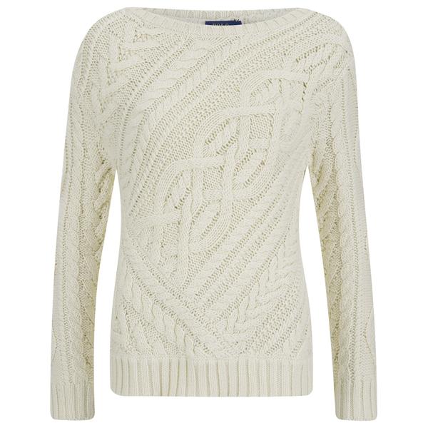 Polo Ralph Lauren Women's Cable Knitted Jumper - Port Cream