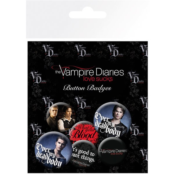 The Vampire Diaries Stefan & Damon - Badge Pack