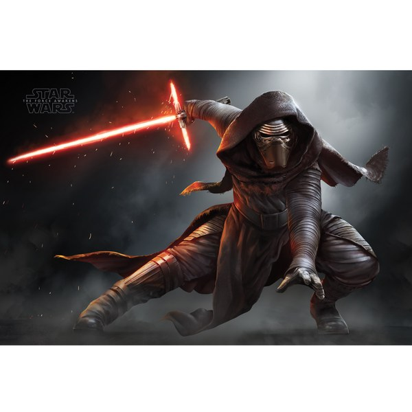 Star Wars: The Force Awakens Kylo Ren Crouching - 24 x 36 Inches Maxi Poster