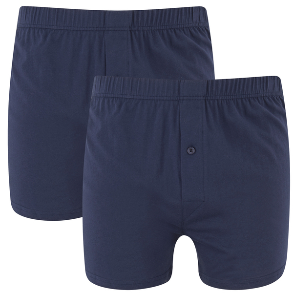 Wolsey Men's Twin Pack Jersey Boxer Shorts - Navy