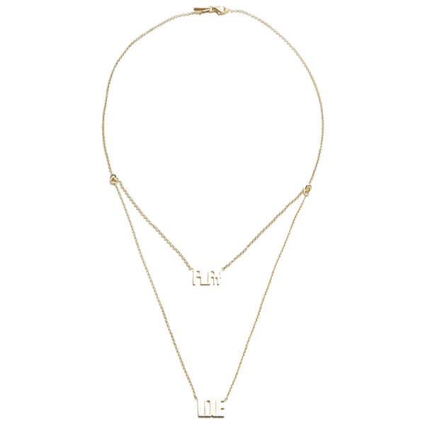 Maria Francesca Pepe Women's Play Love Charm Chain - Gold